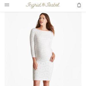 Maternity White Lace Dress by Ingrid & Isabel